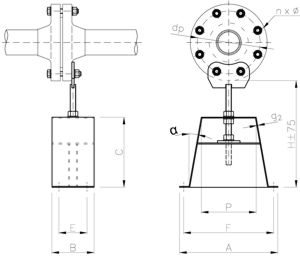 flange-attachment-support-stand